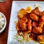 Orange Chicken with rice.