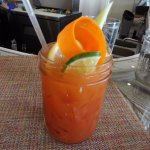 Bloody Mary with veggies