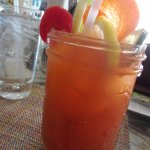 other side of Bloody Mary with veggies