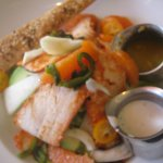 a very unusual and exquisite citrus chicken salad