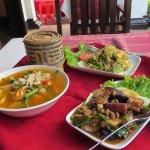 Dinner at Tamnak Lao Restaurant, set menu number 1.