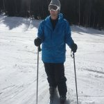 Skiing instead of snowboarding for the first time in a while!