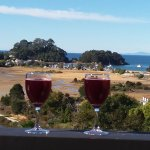 View from our room at Kimi Ora looking down on Kaiteriteri