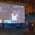 Outdoor Big Screen On the patio