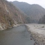 Take a walk along River Ramganga. Beautiful area. Pic from a suspension bridge near Solluna.