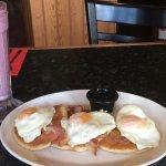 Granola Sundae with Triple Stack and orange juice. Lovely breakfast