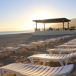 Beach area with recliners for our guests