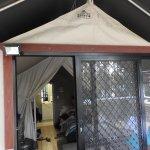 Entrance to Safari Tent