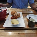 Savoury scones and tea