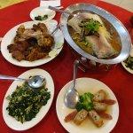 Fish, tofu, pork & vegetable