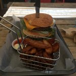 """We had a beautiful lunch here this Sunday afternoon. I had the """" pulled park"""" stack and my frien"""