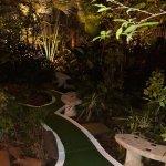 The jungle-like garden of The Atlanta Hotel, Bangkok.