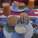 Our burgers and coctails
