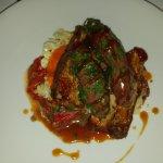 Smoked ribs, mojo potatoes, romanesco sauce