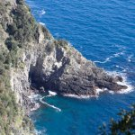 View of coastline from trail between Vernazza and Monterossa al Mare