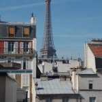 View of the Eiffel tower from the room