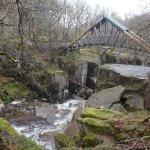 The Bracklinn Bridge (which won an International Footbridge Award in 2010 as it was put up by ha