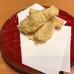アラカルトでとった新タケノコの天ぷら