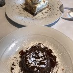 Tiramisu and sticky toffee dessert