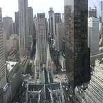 Bird's-eye view of the Cathedral of St.Patrick and Rockefeller Center from our 46th floor room.