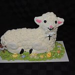 one of the few bakeries still making lamb cakes