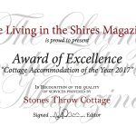 Award of Excellence, Cottage Accommodation of the Year 2017