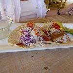 fish taco and shrimp taco