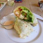 famous BIG tempura fish wrap