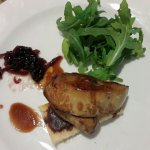 Foie gras with sweet onion reduction