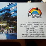 Hotel Pelangi's details. They provide transfers from Tanjung Pinang's Jetty.