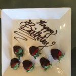 A lovel surprise in my room on my birthday. Sheer class at this hotel. So sweet!
