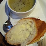 Homemade soup of the day, fresh bread and butter (Leek & Potato)
