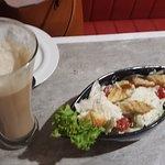 coffee and salad