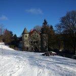 Der Holzberghof im Schnee