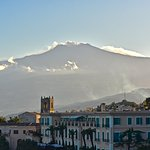 View onto Etna from the roof terrace