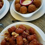 Tater tots for dinner at The Pub. Loved it!