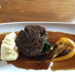 Lamb slow roasted with puréed carrot
