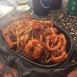 Sizzling sea food