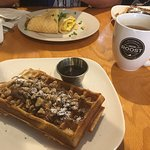 Always fresh waffles. We tried their egg waffle for the first time and it is really nice as well