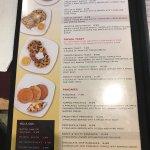 Cambridge menu as per question