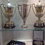 The Championship trophies for 1st, 2nd & 3rd divisions