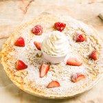 Strawberries and Whipped Cream Pancake