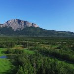 Aerial Photo of #3 and Mt. Yamnuska
