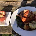 A fantastic Sunday lunch, probably the best roast dinner I've ever eaten.