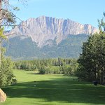 Hole #3 with Mt. Yamnuska