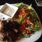 Gyros with Salad and Tsaziki