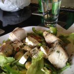 Greek Salad with Mahi Mahi ( Fish )