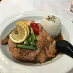 Excellent soy and ginger fish -- very generous serving
