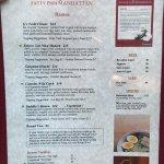 Excellent menu