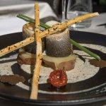 "sea bass fillet ""tartufato"" with black truffles"